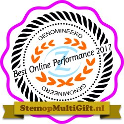 MultiGift genomineerd voor Best online performance award 2017
