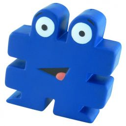 Anti stress hashtag blauw 9645